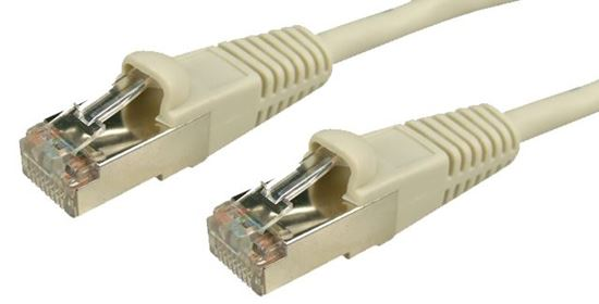 Picture of DYNAMIX 5m Cat5E 26AWG Beige STP Patch Lead (T568A Specification)