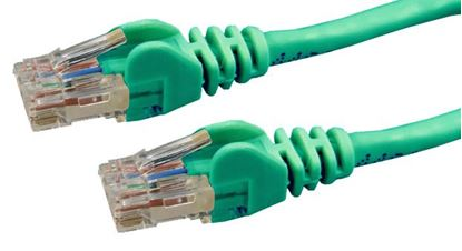 Picture of DYNAMIX 0.3m Cat6 Green UTP Patch Lead (T568A Specification) 250MHz