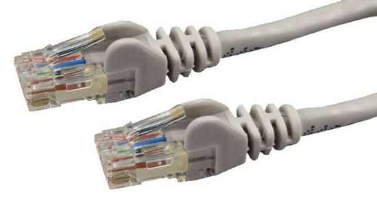 Picture of DYNAMIX 1m Cat6 Grey UTP Patch Lead (T568A Specification) 250MHz