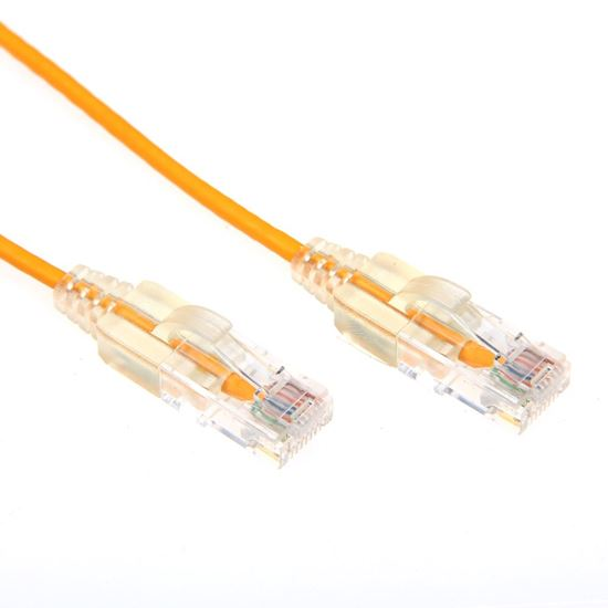 Picture of DYNAMIX 1m Cat6A 10G Yellow Slimline Component Level UTP