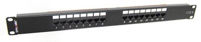 Picture of DYNAMIX 16 Port 19' Cat5e UTP Patch Panel, T568A & T568B