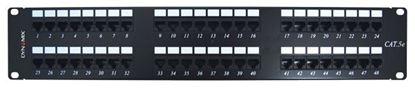 Picture of DYNAMIX 48 Port 19' Cat5e UTP Patch Panel, T568A & T568B