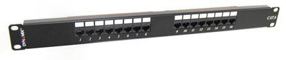 Picture of DYNAMIX 16 Port 19' Cat6 UTP Patch Panel, T568A & T568B