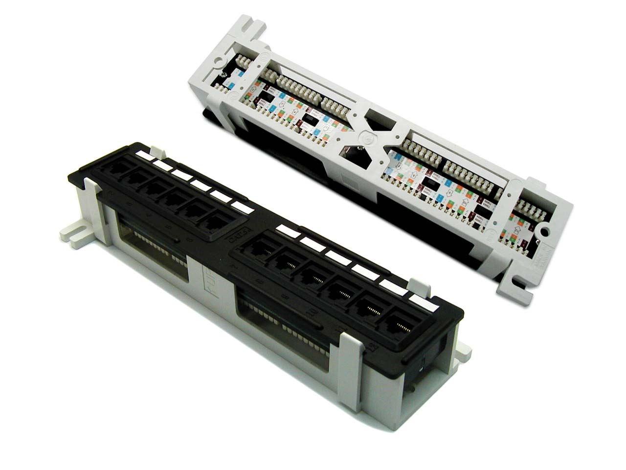 Dynamix Mini 1u Rj45 12 Port Patch Panel Cat6 T568a T568b Wiring
