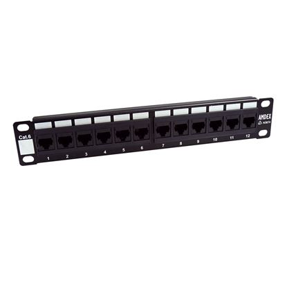 Picture of DYNAMIX 10' 12 Port Cat6 Patch Panel for 10' Cabinet R10 series
