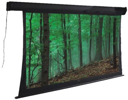 Picture of BRATECK 108' Deluxe Tab-tensioned, Electric Projector Screen. Matte