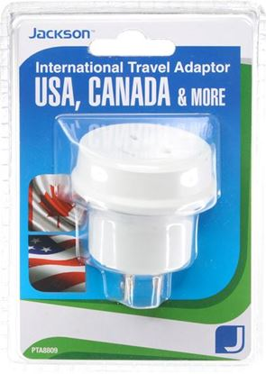 Picture of JACKSON Outbound Travel Adaptor. Converts NZ/AUS Plugs for use in