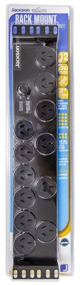 Picture of JACKSON 2RU 12x Outlet Horizontal Power Rail. Surge Protected 525J