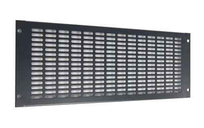 Picture of DYNAMIX 4RU Vented Blanking Panel. Black Colour