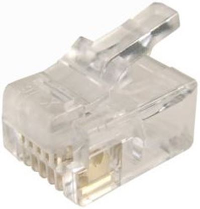 Picture of DYNAMIX RJ12 Plug 20pc Bag, 6P6C Modular Plug. 3 micron.