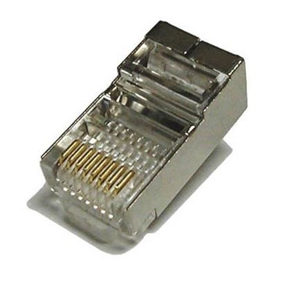 Picture of DYNAMIX RJ45 100pc Jar, (Round Solid) 8P8C Shielded Modular Plug.