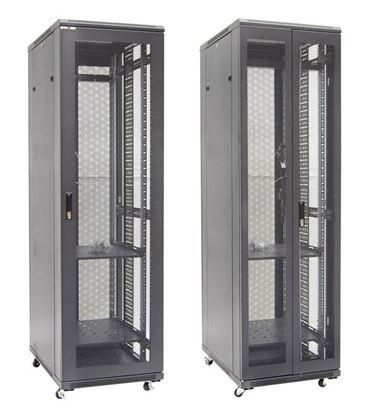Picture of DYNAMIX 42RU Server Cabinet 800mm Deep Front Mesh Door, Rear Mesh