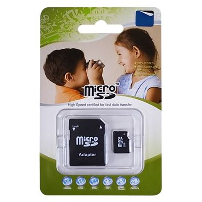 Picture of 16GB Micro SD High-Speed Certified Flash Card with Adapter