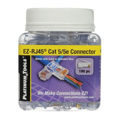 Picture of PLATINUM TOOLS Cat5e EZ-RJ45 Plug. Easy install RJ45 plug for Cat5e