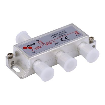 Picture of TRIAX RF 3-Way Splitter 5~2400MHz. All ports power pass - diode