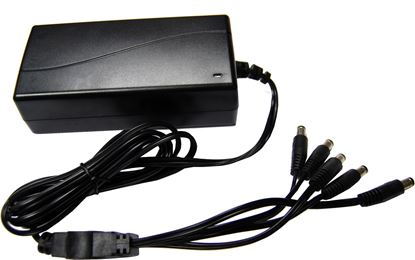Picture of DYNAMIX 12V DC 5A CCTV Power Supply with 4-Way splitter.