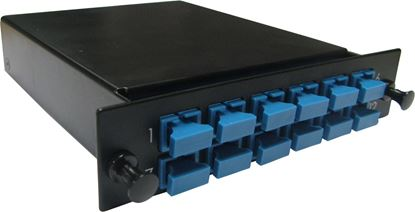 Picture of DYNAMIX MPO SM 12 Port SC Simplex Single-mode 12 Fibre Cassette.