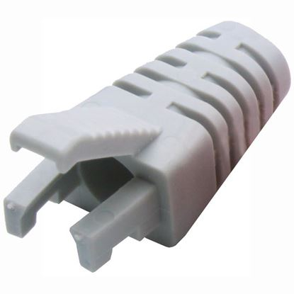 Picture of DYNAMIX LITE GREY RJ45 Strain Relief Boot - Slimline with Clip