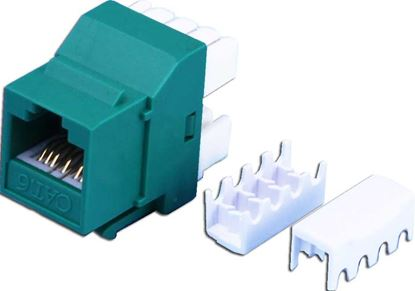 Picture of DYNAMIX Cat6 GREEN Keystone RJ45 Jack for 110 Face Plate T568A/T568B