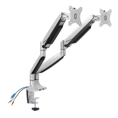 Picture of BRATECK 13'-32' Dual interactive counter balance monitor desk mount.