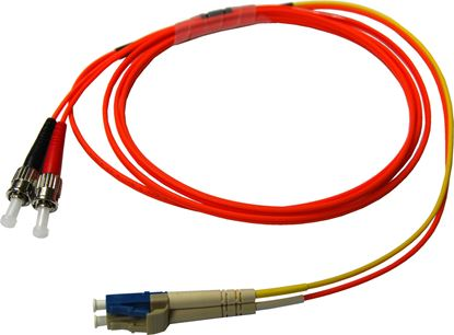 Picture of DYNAMIX 2M LC/ST Mode Conditioning Lead. Single-Mode transmit on LC