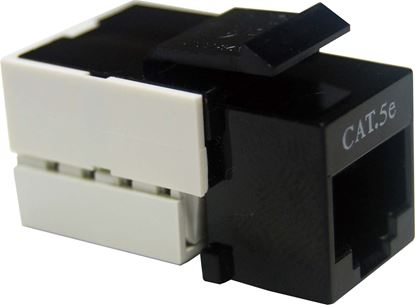 Picture of DYNAMIX Cat5e Keystone RJ45 Jack for 110 Face Plate. T568A/T568B