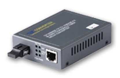 Picture of CTS Fast Ethernet WDM Converter. RX: 1310nm, TX: 1550nm.