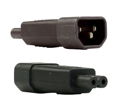 Picture of DYNAMIX IEC Male C14 to C7 N8 Female Adapter