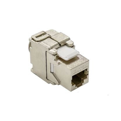 Picture of DYNAMIX Cat6A Shielded Keystone Slimline Jack. Toolless or Punch