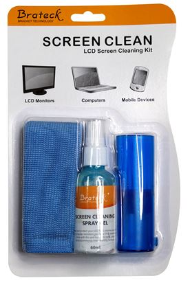 Picture of BRATECK LCD Cleaning Kit. Includes: 60ml non-drip cleaning