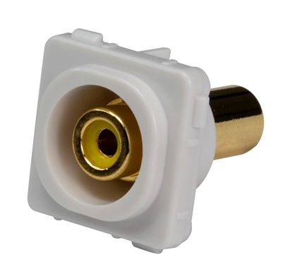 Picture of AMDEX Yellow RCA to RCA Jack. Gold Plated