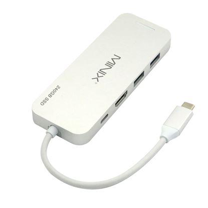 Picture of MINIX NEO USB-C Multiport 240GB SSD Storage Hub. 4K HDMI Port, 2x USB