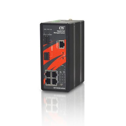 Picture of CTC UNION 4 Port Gigabit Managed PoE Switch. -10C ~60C.
