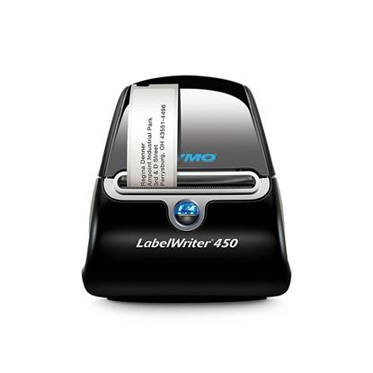 Picture of DYMO LabelWriter 450 Label Printer. Print up to 71 four-line address