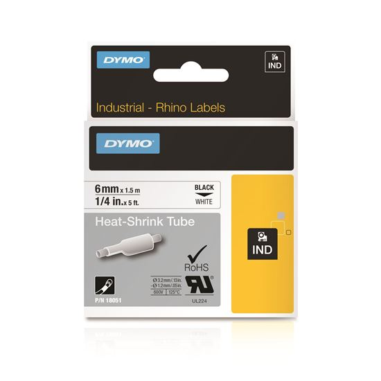 Picture of DYMO Genuine Rhino Industrial Labels- Heat Shrink Tube 6mm Black