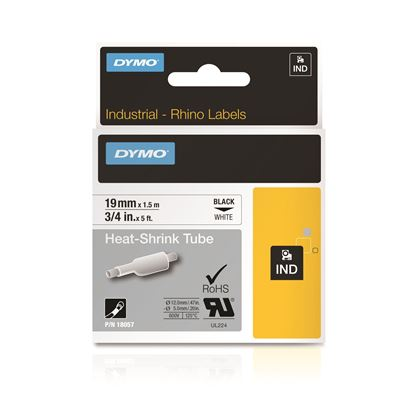 Picture of DYMO Genuine Rhino Industrial Labels-Heat Shrink Tube 19mm Black