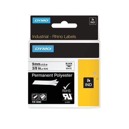 Picture of DYMO Genuine Rhino Industrial Labels -Permanent Polyester 9mm,