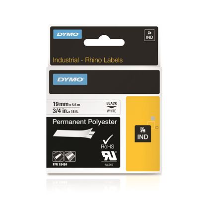 Picture of DYMO Genuine Rhino Industrial Labels -Permanent Polyester 19mm,