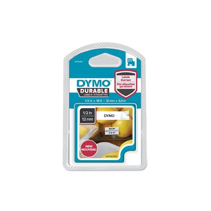 Picture of DYMO Genuine D1 Extra-Strength Durable Labels. 12mm x 5.5m Black