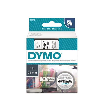 Picture of DYMO Genuine D1 Label Cassette Tape 24mm x 7M, Black on White