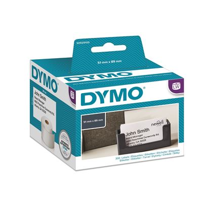 Picture of DYMO Genuine LabelWriter Name Badge Cards, 51mm x 89mm Non Adhesive,