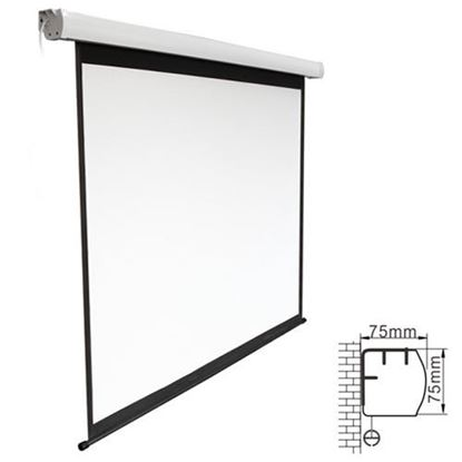 Picture of BRATECK 135' Electric Projector Screen with Remote, Fiberglass