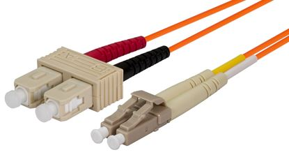 Picture of DYNAMIX 2M 62.5u LC/SC OM1 Fibre Lead (Duplex, Multimode)