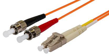 Picture of DYNAMIX 15M 62.5u LC/ST OM1 Fibre Lead (Duplex, Multimode)