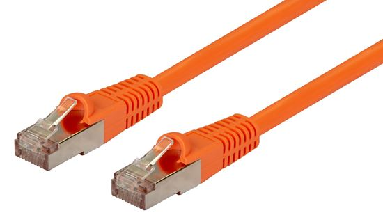 Picture of DYNAMIX 15m Cat6A Orange SFTP 10G Patch Lead. (Cat6 Augmented) 500MHz