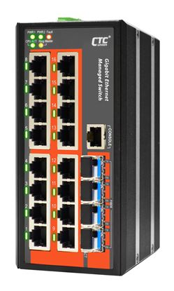 Picture of CTC UNION 16 Port Gigabit Managed Switch. -10C~60C.