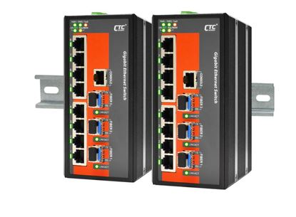 Picture of CTC UNION 16 Port Gigabit Managed Switch.  -40C~+75C.