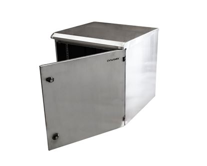 Picture of DYNAMIX 9RU Stainless Outdoor Wall Mount Cabinet (611 x 625 x