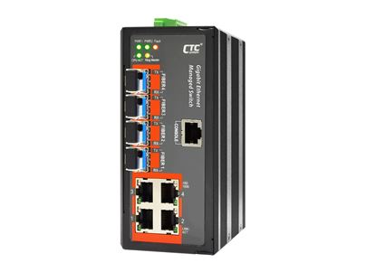 Picture of CTC UNION 4 Port Gigabit Managed Switch.  -10C~60C.