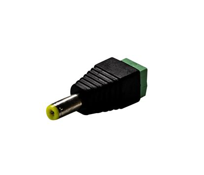 Picture of DYNAMIX DC Jack Adaptor with Polarity Marked on Connector.